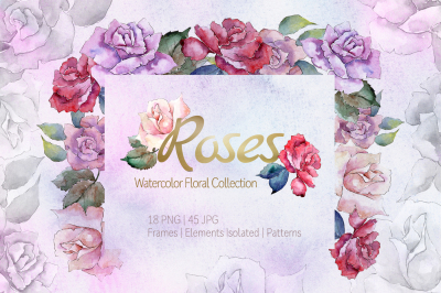 ROSES Watercolor png