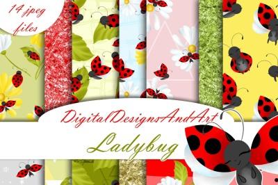 Ladybug digital paper