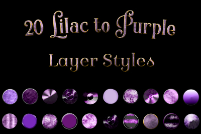 20 Lilac to Purple Layer Styles