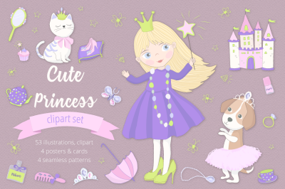 Cute Princess Illustration Set