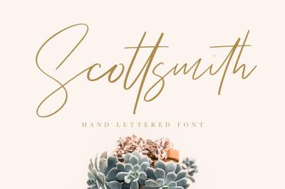 Scottsmith - Ligatures Font