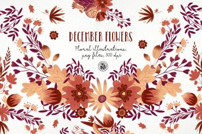 December Flowers ver 2018