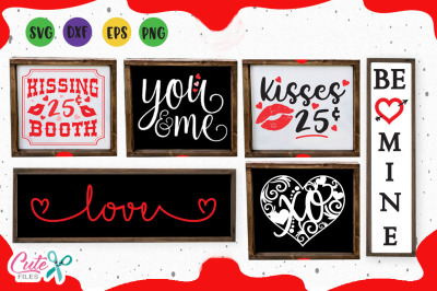 Valentine wood signs svg valentines day for crafter