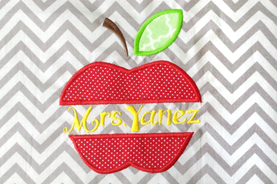Apple Split | Applique Embroidery