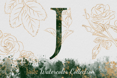 Jade Gold Watercolor Collection