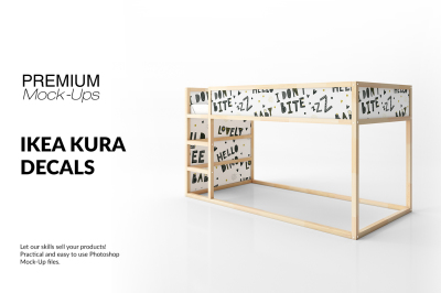 Ikea Kura Sticker Mockup Set