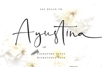 Ayustina - Signature Font