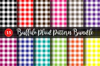 15 Buffalo Plaid Pattern Bundle
