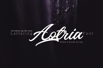 Aotria | Modern Brush Script