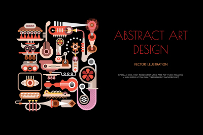 Musical Theme Abstract art design vector artwork