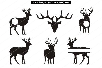 Deer svg,Reindeer svg,Cricut files,silhouette cameo,Reindeer print,svg