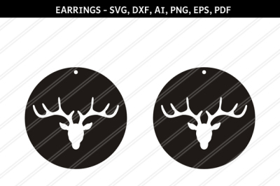 Deer earrings svg,Reindeer earrings,Jewelry svg,leather jewelry,Cricut