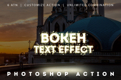 New Year // Bokeh Text Effect Action