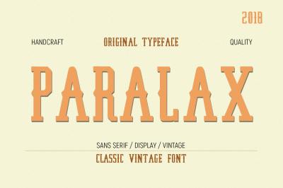 Paralax Typeface