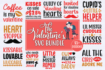 Valentine's Day SVG Big Bundle