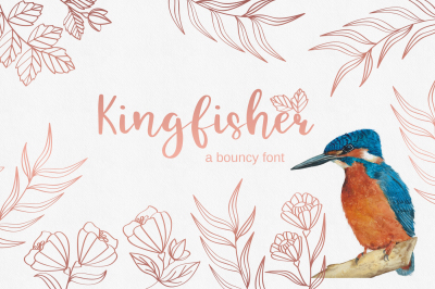 Kingfisher - modern calligraphy font