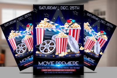 Movie premiere flyer template