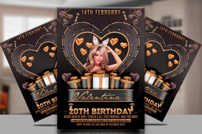 Black and Gold Party Flyer Template