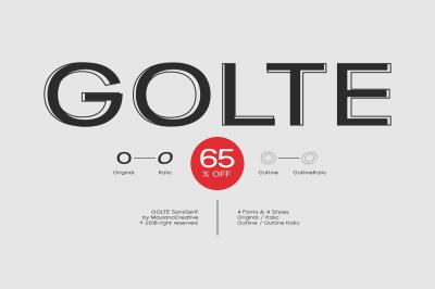 Golte Sans Font