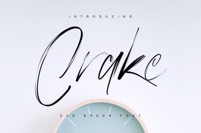 Crake - Brush SVG Font