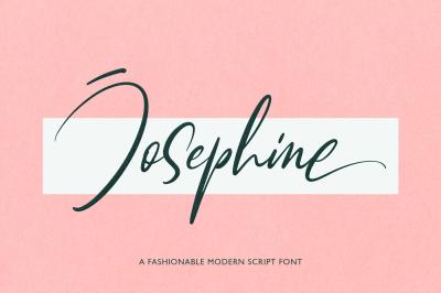 Josephine Fashionable Script Font