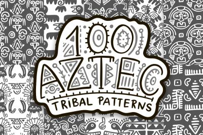 100 Aztec seamless patterns.