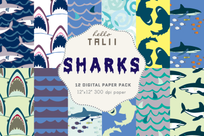 SHARKS DIGITAL PAPER