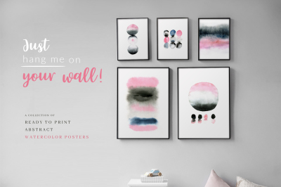 Just hang me on your wall! Abstract watercolor posters