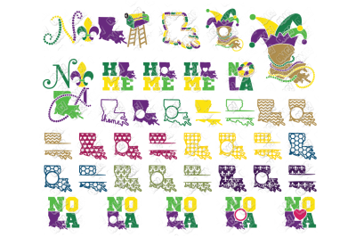 Louisiana SVG New Orleans Bundle in SVG, DXF, PNG, EPS, JPG
