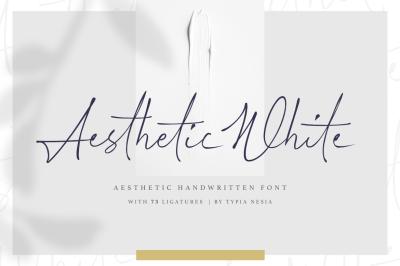 Aesthetic White - Handwritten Font