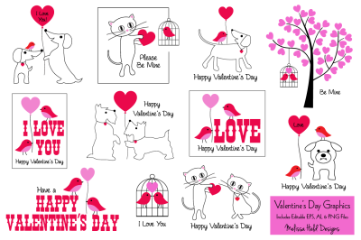 Valentine's Day Card Graphics