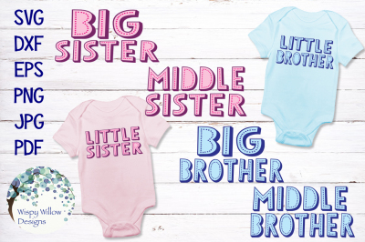 Sibling Bundle | Big Sister, Big Brother, Middle, Little