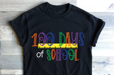 100 Days of school ruler | Cut file