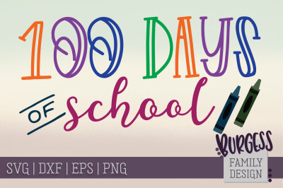 100 days of School crayons
