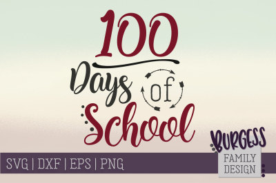 100 days of school | Cut file