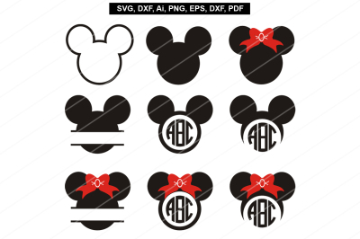 Mickey mouse svg files,Mickey mouse cut files,Cricut,Silhouette,dxf