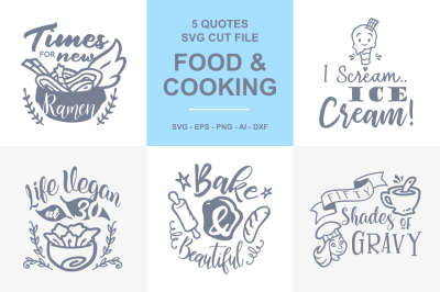 5 Cooking and Food Quotes SVG - 02