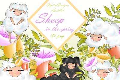 Cute lamb clipart