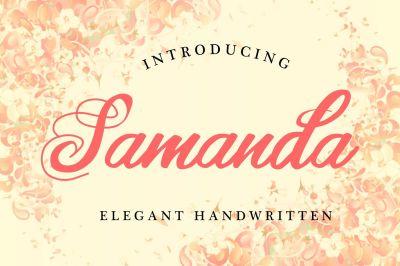 Samanda | Elegant Handwritten