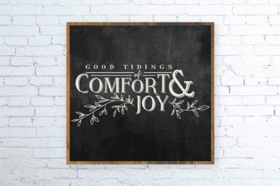 Christmas SVG, Good Tidings of Comfort and Joy
