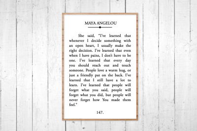 Maya Angelou Book Page, SVG, DXF, JPG, EPS