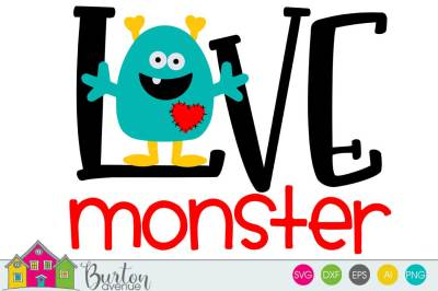 Love Monster Valentine SVG File