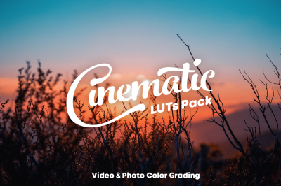 Cinematic LUTs Pack for videos