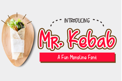 Mr. Kebab - A Fun Monoline Font