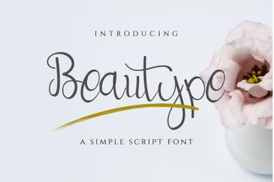 Beautype - Simple Script Font