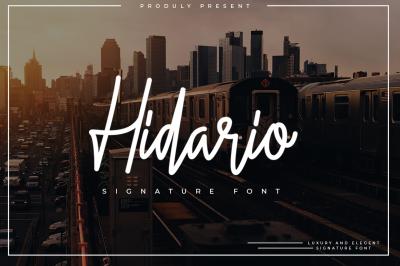 Hidario Signature Font