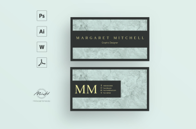 Blue Marble Card Template / Business Card / Calling Card / Name Card