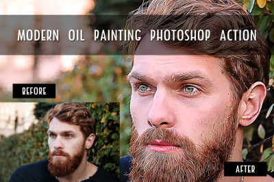 Modern Oil Painting Photoshop Action