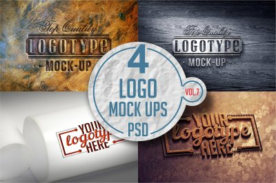 Logo Mock-up Pack Vol.7