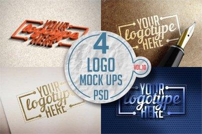 Logo Mock-up Pack Vol.10